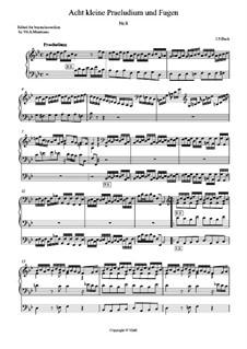 Маленькие прелюдии и фуги, BWV 553–560: Prelude and Fugue in B Flat Major. Arrangement for accordion (or bayan) by Иоганн Себастьян Бах
