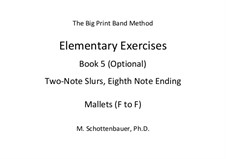 Elementary Exercises. Book V: Mallets (F to F) by Michele Schottenbauer