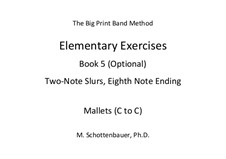 Elementary Exercises. Book V: Mallets (C to C) by Michele Schottenbauer