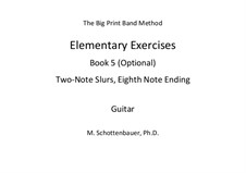 Elementary Exercises. Book V: Guitar by Michele Schottenbauer