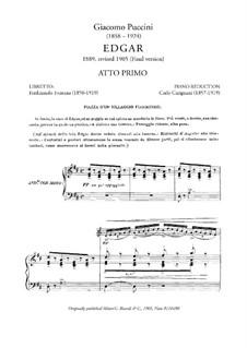 Эдгар: Акт I, клавир с вокальной партией by Джакомо Пуччини