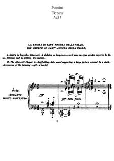 Тоска: Клавир с вокальной партией by Джакомо Пуччини