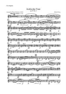 Сюита No.2, Op.55: Arabian Dance, for oboe, cor anglais, violin and double bass – cor anglais part by Эдвард Григ