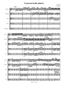 Concerto for Strings in C Minor, RV 119: Score, parts by Антонио Вивальди