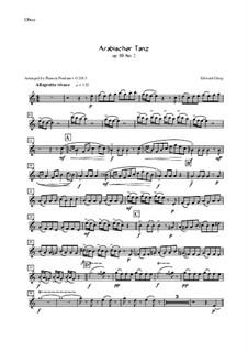 Сюита No.2, Op.55: Arabian Dance, for oboe, violin, viola and cello – oboe part by Эдвард Григ