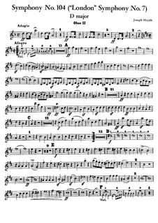 Симфония No.104 ре мажор 'Лондонская', Hob.I/104: Партия второго гобоя by Йозеф Гайдн