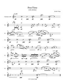 Free Time (solo clarinet): Free Time (solo clarinet) by Jordan Grigg