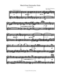 March, Chinese Dance and Russian Dance (Trepak): For flute duet by Петр Чайковский