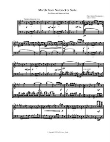 March, Chinese Dance and Russian Dance (Trepak): For flute and bassoon by Петр Чайковский