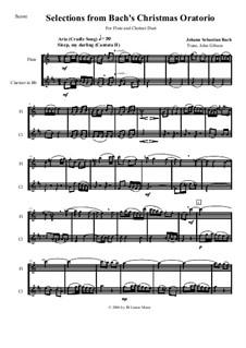 Рождественская оратория, BWV 248: Selections for flute and clarinet by Иоганн Себастьян Бах