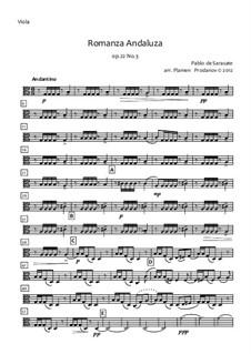 Андалузский романс, Op.22: Для струнного оркестра – партия альта by Пабло де Сарасате