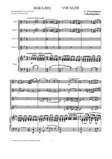 Вокализ, Op.34 No.14: Для ансамбля скрипачей и фортепиано by Сергей Рахманинов