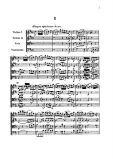 Струнный квартет No.49 си минор, Hob.III/68 Op.64 No.2: Партитура by Йозеф Гайдн