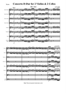 Concerto for Two Violins and Two Cellos in D Major, RV 564: Concerto for Two Violins and Two Cellos in D Major by Антонио Вивальди