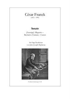 Соната для скрипки и фортепиано ля мажор, M.8 FWV 8: Версия для органа by Сезар Франк