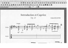 Интродукция и каприс, Op.23: Для гитары by Джулио Регонди