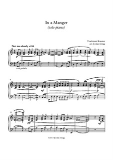 In a Manger (solo piano): In a Manger (solo piano) by Unknown (works before 1850)