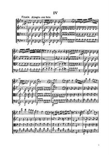 Струнный квартет No.59 соль минор, Hob.III/74 Op.74 No.3: Часть IV by Йозеф Гайдн