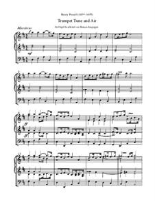 Trumpet tune and Air: Для органа by Генри Пёрсел