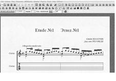 Десять этюдов для гитары: Этюд No.1 by Джулио Регонди