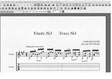 Десять этюдов для гитары: Этюд No.3 by Джулио Регонди