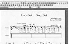 Десять этюдов для гитары: Этюд No.4 by Джулио Регонди