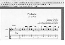 No.4 ми минор: Для гитары (с табулатурой) by Фредерик Шопен