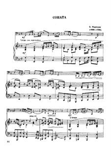 Шесть сонат для виолончели (или альта) и бассо континуо, Op.1: Соната No.1, для тубы и фортепиано by Бенедетто Марчелло