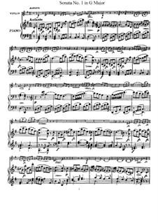 Соната No.1 соль мажор: Партитура, сольная партия by Йозеф Гайдн