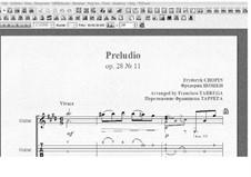 No.11 си мажор: Для гитары (с табулатурой) by Фредерик Шопен