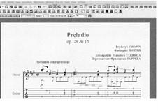 No.15 ре-бемоль мажор: Для гитары (с табулатурой) by Фредерик Шопен