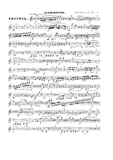 Септет ля мажор, Op.132: Партия кларнета by Фридрих Калькбреннер