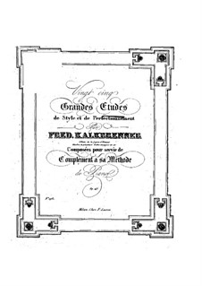 Двадцать пять больших этюдов, Op.143: Этюд No.1 by Фридрих Калькбреннер