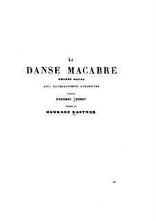 La danse macabre: La danse macabre by Жан-Жорж Кастнер