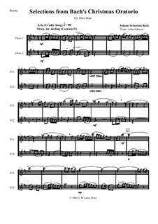 Рождественская оратория, BWV 248: Selections for two flutes by Иоганн Себастьян Бах