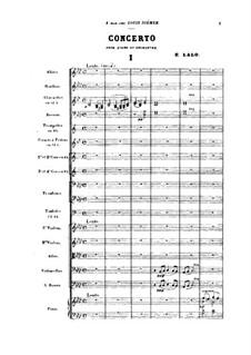 Концерт для фортепиано с оркестром: Партитура by Эдуар Лало