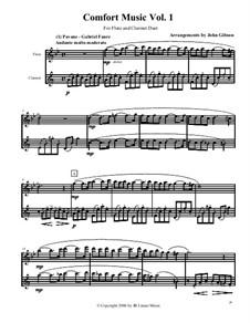 Comfort Music (music for occasions), Volume I: For flute and clarinet by Иоганн Себастьян Бах, Вольфганг Амадей Моцарт, Габриэль Форе, Иоганнес Брамс, Иоганн Пахельбель