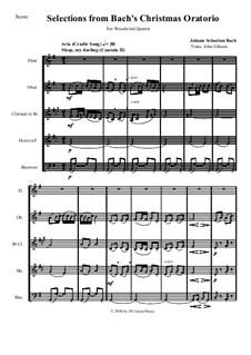 Рождественская оратория, BWV 248: Selections for woodwind quintet by Иоганн Себастьян Бах