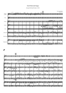 Gia' il sole dal Gange: For tenor, strings, solo trumpet and continuo – score by Алессандро Скарлатти