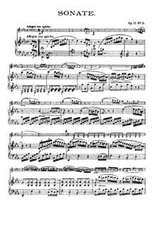 Три сонаты для скрипки и фортепиано, Op.12: Соната No.3 by Людвиг ван Бетховен