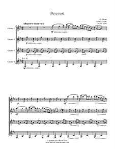 Колыбельная песня для скрипки и фортепиано, Op.16: Version for four guitars – score and parts by Габриэль Форе