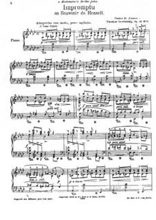 Contes de Jeunesse, Op.46: No.6 Impromptu en Souvenir de Henselt by Теодор Лешетицкий