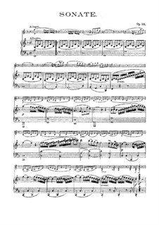 Соната для скрипки и фортепиано No.5 'Весна', Op.24: Партитура by Людвиг ван Бетховен