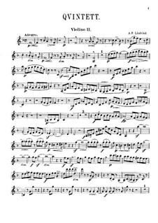 Струнный квинтет фа мажор: Скрипка II by Адольф Фредрик Линдблад