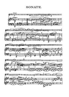 Соната для скрипки и фортепиано No.6, Op.30 No.1: Партитура для двух исполнителей by Людвиг ван Бетховен