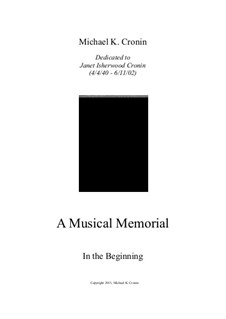 A Musical Memorial: In the Beginning by Michael Cronin