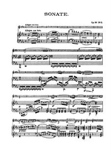 Соната для скрипки и фортепиано No.7, Op.30 No.2: Партитура by Людвиг ван Бетховен