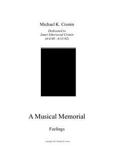 A Musical Memorial: Feelings by Michael Cronin