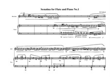 3 Sonatinas for Flute and Piano: Сонатина No.1, MVWV 534 by Maurice Verheul