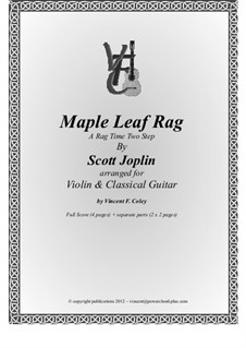Maple Leaf Rag: For violin and classical guitar by Скотт Джоплин